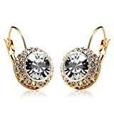 iSweven Gold color Boutique Round Crysta...