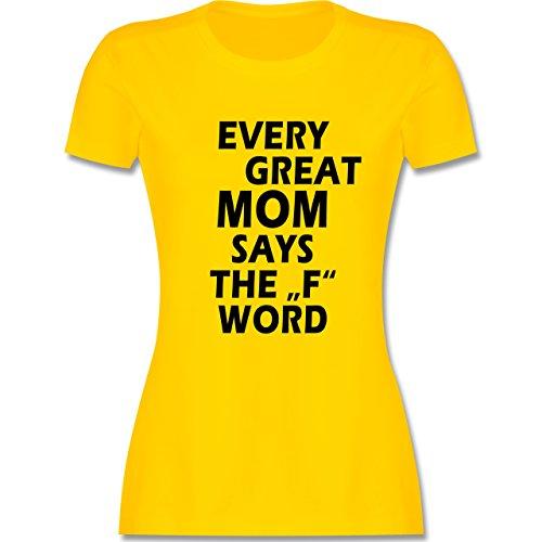Statement Shirts - Fuck Word - tailliertes Premium T-Shirt mit Rundhalsausschnitt für Damen Gelb