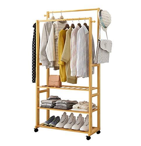 CZZ Kleidung/Hut Rack Kleiderbügel Boden Mantel Rack Kleiderbügel Kleiderbügel Massivholz Hängen Rack Multifunktions 60 cm / 70 cm / 80 cm,A,60Cm (Boden Rack Hut)