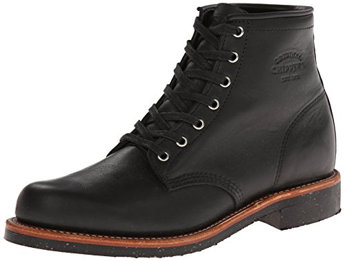 Chippewa Mens 1901M24 Black Leather Boots 43 EU Chippewa Service Stiefel Männer