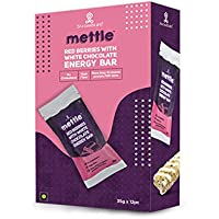 swasthum Mettle Red Berries with White Chocolate Energy Bar, 35 g (Pack of 12 Pieces)