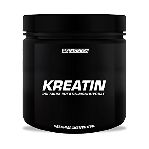 KREATIN Premium Kreatin-Monohydrat Pulver – OS NUTRITION geschmacksneutral 400g – made in Germany
