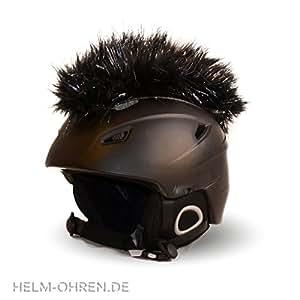 """Helm-ohren CasqueIroquois """"noir deluxe"""" pour casque de ski/snowboard, casque de vélo ou casque de moto, déco Iroquoise tendance pour casque, punk"""