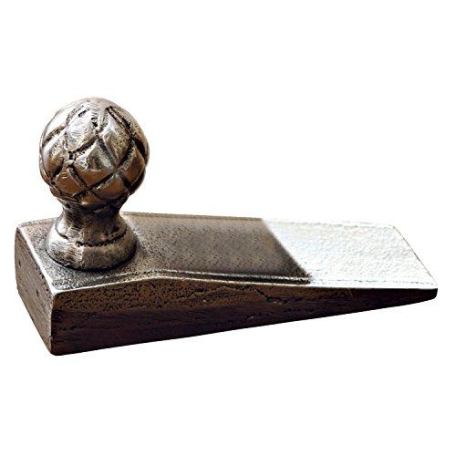 Loberon Türstopper Broche, Aluminiumguss, H/B/T ca. 7/12 / 4 cm, Silber