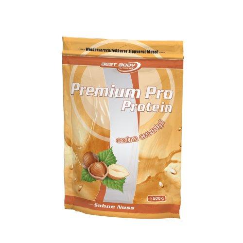 Best Body Nutrition Premium Pro Protein, Sahne-Nuss , 500 g Beutel -