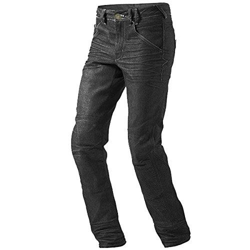 "JET Pantalon Moto Hombre Jeans Kevlar Aramid con Armadura (48 Regular/Cintura 32"" Longitud 32""(M), Negro)"