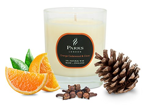Originale Dochtkerze von Parks London Orange, Cedarwood & Clove