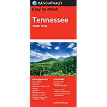 Rand McNally Easy to Read! Tennessee State Map-