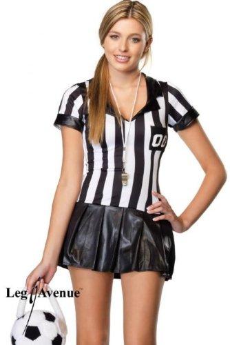 Jugendliche Schiedsrichterin Kostüm Set, Größe S/M, schwarz/weiß ()