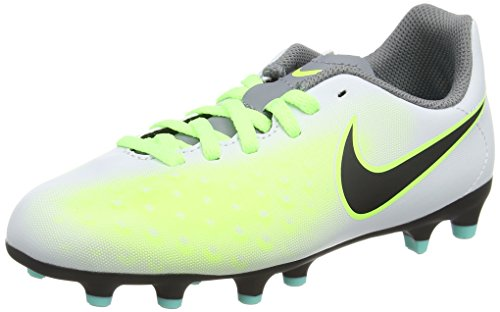Nike Magista Ola Ii Fg, Scarpe da Calcio Unisex - Bambini, Argento (Pure Platinum/Black-Ghost Green), 37.5 EU
