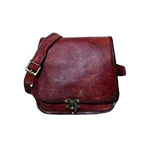 Metallringschloss Handmade Genuine 9″LeatherHandmade Genuine Unisex Ladies Messenger Bag