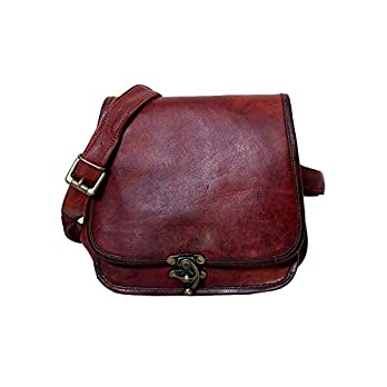 Metallringschloss Handmade Genuine 9″LeatherHandmade Genuine Unisex Ladies Messenger Bag