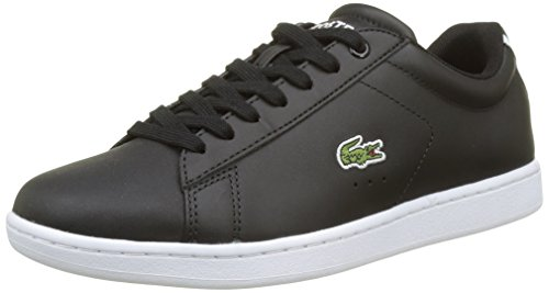Lacoste Carnaby Evo, Damen Sneaker, Schwarz (schwarz/ weiß schwarz/ weiß), 38 EU (5 UK)