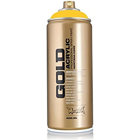 Montana Gold Series Spray Paint - Yellow Submarine 11 oz aerosol can by Montana