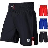 Mytra Fusion Satin Boxing Shorts, MMA Shorts, Combat Shorts, Ring Shorts, Training Shorts (Black, Medium)