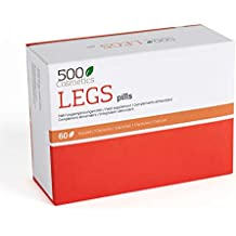 500Cosmetics Legs – Cápsulas Naturales para Prevenir y Eliminar las Varices - Mejora la Circulación Sanguínea