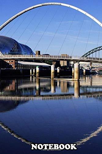 Notebook: Millennium Bridge Widescreen England , Journal for Writing, College Ruled Size 6