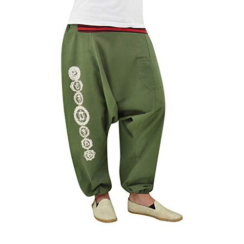 4aabe359 virblatt - Pantalones de harén para Hombre y Mujer, como Ropa Hippie, Yoga,  Ropa - DerSchelm Verde L/XL