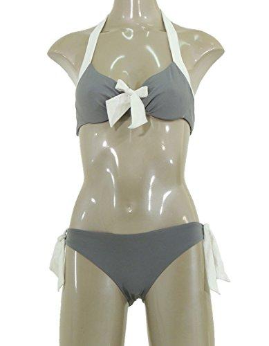 Twin-Set beachwear bikini reggiseno con ferretto e slip bicolore S2MMS2E66 (1)