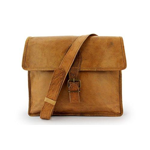 A.P. Donovan - Handgemachte Leder-Umhänge-Tasche für Freizeit-Hobby-Business, Platz für Bücher (Uni, Allrounder), Messenger Bag vintage Look