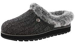 Skechers Women's Keepsakes-ICE Angel Low-Top Slippers, Charcoal, 7 (40 EU)