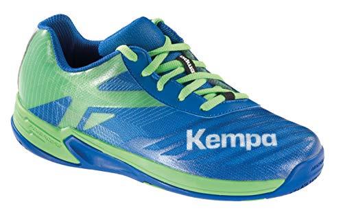 Kempa Unisex-Kinder Wing 2.0 JUNIOR Handballschuhe, Mehrfarbig (Azurblau/Spring Grün 01), 38 EU