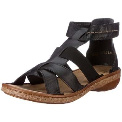 rieker regina 62854 00 damen sandalen fashion sandalen schwarz schwarz 00 eu 38. Black Bedroom Furniture Sets. Home Design Ideas