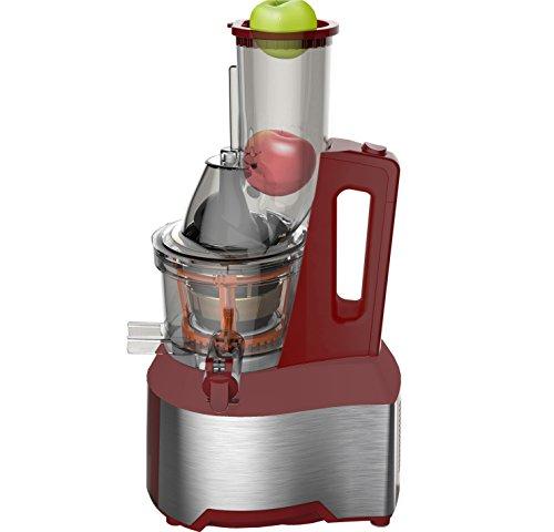 Optimum 600 kaltpressender Entsafter mit 7,5cm Schacht XXL 65 U/Min, Slow Juicer ohne Zentrifuge, elektrischer Kaltentsafter, Fruchtentsafter, Küchenmaschine langsam drehend