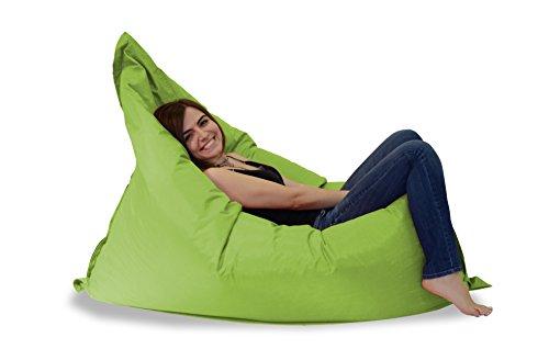 MINDERIM Pigro Indoor & Outdoor Sitzsack XXL 400L Riesensitzsack Sitzkissen Sessel für Kinder & Erwachsene (Zitrone Grün)