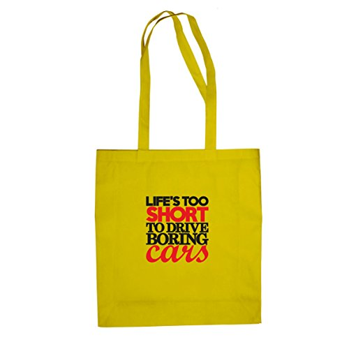 Life's too short to drive boring Cars - Stofftasche / Beutel Gelb