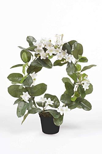 artplants Set 12 x Kunst Kranzschlinge Altay, weiß, 40cm - Kunstpflanze Stephanotis/Deko Kranzschlinge