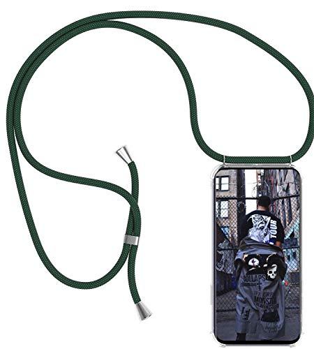 TUUT Handykette kompatibel mit Samsung Galaxy A3 2016 Handy-Kette Handy Hülle mit Kordel zum Umhängen Handyanhänger Halsband Lanyard Case/Handy Band Necklace [Stoßfest] - Grün