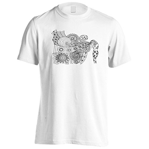 Mano disegnata ragazza sfondo Uomo T-shirt g606m White