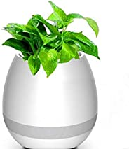 Music Flower Pot Smart Touch Plant Bluetooth Wireless Speaker with Multi-color LED Light 2002621