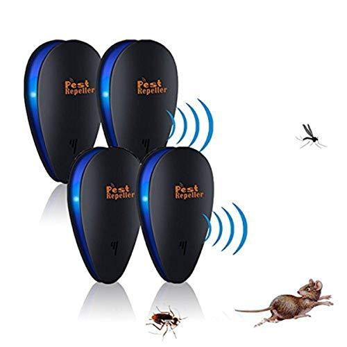 Janolia 4pcs Ultraschall Schädlingsbekämpfer, Insektenschutzmittel zur Abwehr von Spinnen, Flöhen, Mücken, Ameisen, Mäusen, Kakerlaken