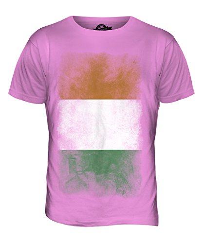 CandyMix Elfenbeinküste Verblichen Flagge Herren T Shirt Rosa