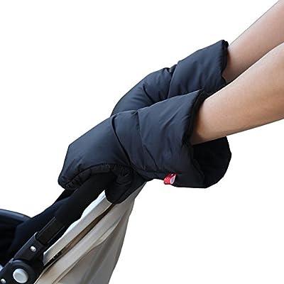 HXHOME guantes de bebé para cochecito / Mangos para cochecito de bebé/Calentadores de mano para cochecito, guantes impermeables anti-congelamiento extra gruesos en negro