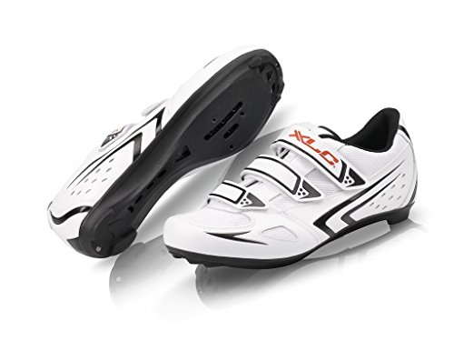 XLC, Scarpe da ciclismo su strada Unisex adulto CB-R04, Bianco (Weiß), 43