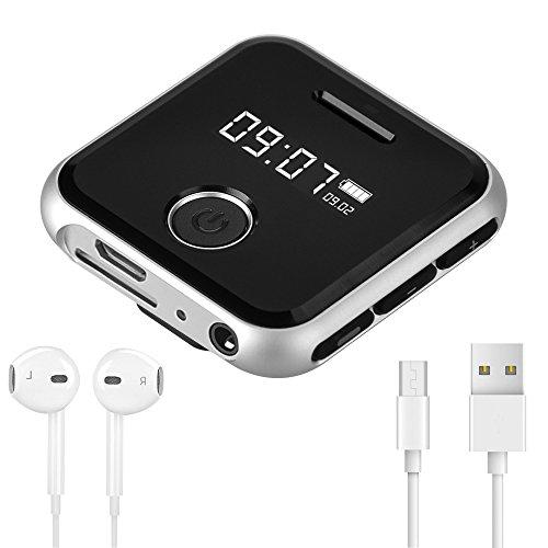 Olycism 8GB Tragbare MP3 Clip Musik Player mit FM Radio Funktion, Aufnahme, 20 Stunden Wiedergabe, inklusive kopfhörer und USB kabel für joggen (Kleines Mp3-radio)
