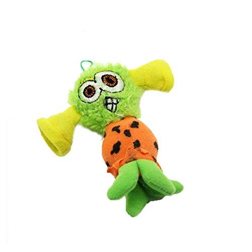 Runfon Plüsch, quietschend kauen Zahnen Fetch Tug Molar Spielzeug Pet Training Gerät Molar Zahnreinigung Puppe Spielzeug