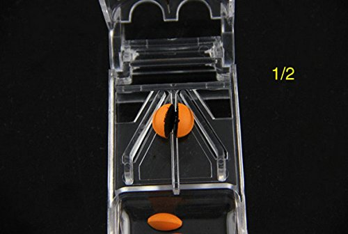 Pill Splitter with 1 Storage Compartment   Safe Design with Retracted Blade   Suitable for Multiple Size Tabs