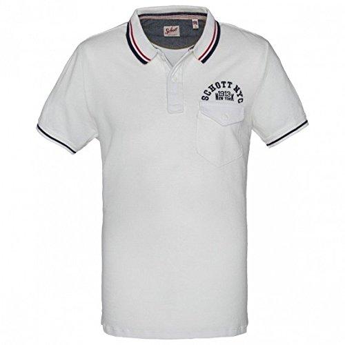 Schott NYC -  Polo  - Uomo bianco XX-Large