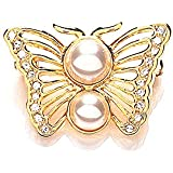 Meadow Amethyst and Swarovski Crystal Butterfly Brooch