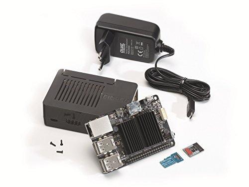 ODROID-C2-Set mit 8 GB eMMC Modul, Gehäuse und Netzteil, Einplatinencomputer,Hardkernel quadcor Bundle Odroid c2 emmc, Mini Server, Mini PC, Server, Einplatinen Board Ir-pc-board