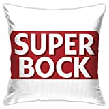 Barlow Whyet Super Bock Taie d'oreiller en Microfibre Motif bière Portugaise Taille Standard, Polyester, Blanc, Taille Unique