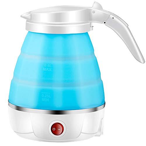 JVSISM Tragbare Silikonfalten Wasser Kocher Auto Ausschalten Edelstahl Reise Wasser Kocher 500Ml