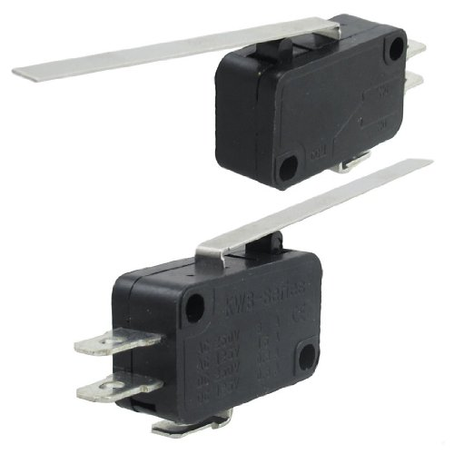 SODIAL(R) Long Straight Hinge Lever 3 Pins Basic NO NC Momentary Micro Switch 2 Pcs Test