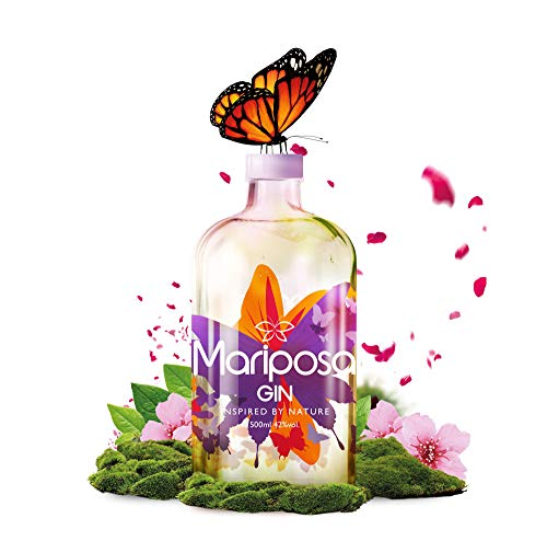 Mariposa Gin - Gin Inspired by Nature - Fruchtiger Gin mit Wacholder & Erdbeeren, Himbeeren & vielen weiteren Fruchtnoten