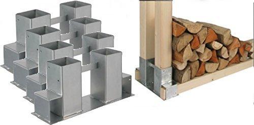*Gravidus 4er Set Stapelhilfe für Kamin und Brennholz Holzstapelhalter*
