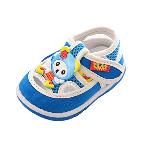 Baby Sandals,Ba Zha  Infant Kids Baby Boys Girls Cartoon Anti-slip Shoes Soft Sole Squeaky Sneakers Shoes Sandals Newborn Soft Sole Shoes Mesh Flats Slip-On Cartoon Toddler Baby Boys 0-3.5 Years Old